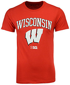 Retro Brand Men's Wisconsin Badgers Midsize T-Shirt