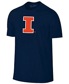 New Agenda Men's Illinois Fighting Illini Big Logo T-Shirt