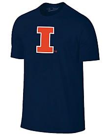 New Agenda Men's Illinois Fighting Illini Big Logo T-Shirt
