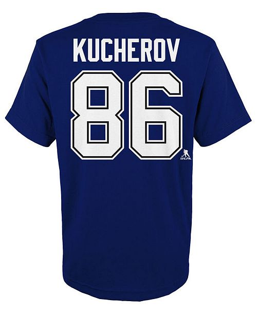 separation shoes 7cc0d 9d9cf Nikita Kucherov Tampa Bay Lightning Player T-Shirt, Big Boys (8-20)