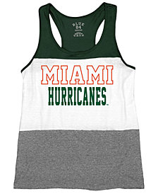 Blue 84 Women's Miami Hurricanes Racerback Panel Tank Top