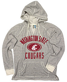 Blue 84 Women's Washington State Cougars Striped Terry Hooded Sweatshirt