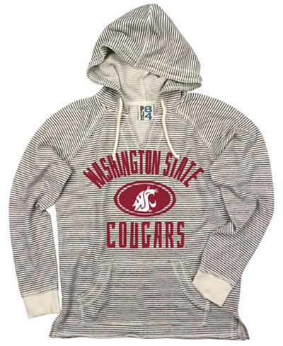 Blue 84 Women's Washington State Cougars Striped Terry Hooded Sweatshirt