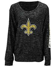 5th & Ocean Women's New Orleans Saints Space Dye Crew Pullover