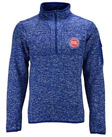 Men's Detroit Pistons Fortune Half-Zip Pullover