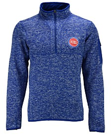 Antigua Men's Detroit Pistons Fortune Half-Zip Pullover