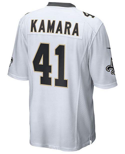 half off f6a20 b1f26 Men's Alvin Kamara New Orleans Saints Game Jersey