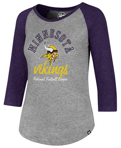 '47 Brand Women's Minnesota Vikings Script Club Raglan T-Shirt