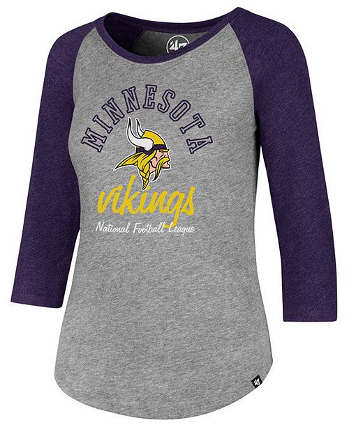 Women's Minnesota Vikings Script Club Raglan T-Shirt