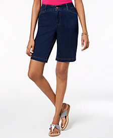 Charter Club Tummy-Control Denim Shorts, Created for Macy's