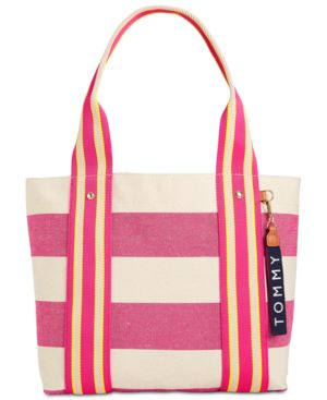 CLASSIC TOMMY WOVEN RUGBY MEDIUM TOTE