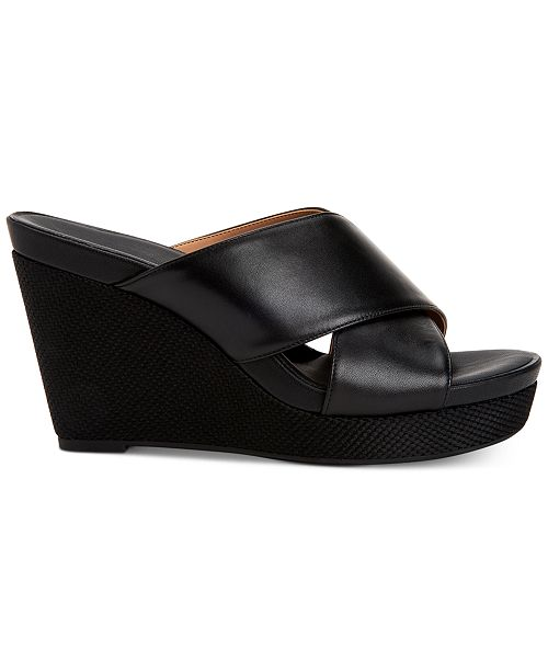 Calvin Klein Women's Jacolyn Wedge Sandals, Created For Macy's Women's Shoes