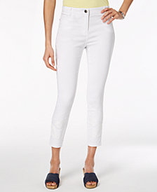 Style & Co Embroidered Skinny Ankle Pants, Created for Macy's