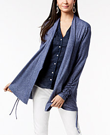 I.N.C. Ruched Cardigan, Created for Macy's