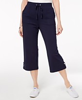 d72b313fd27 Karen Scott French Terry Drawstring Capri Pants