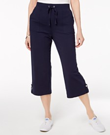 Karen Scott French Terry Drawstring Capri Pants, Created for Macy's