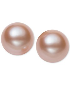 Belle de Mer Cultured Freshwater Pearl Stud Earrings (7mm) in 14k Gold (available in White or Pink)