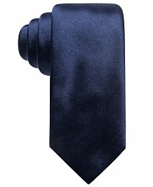 Alfani Men's Satin Solid Slim Silk Tie, Created for Macy's