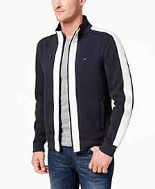 Tommy Hilfiger Men's Platt Full-Zip Mock-Collar Track Jacket