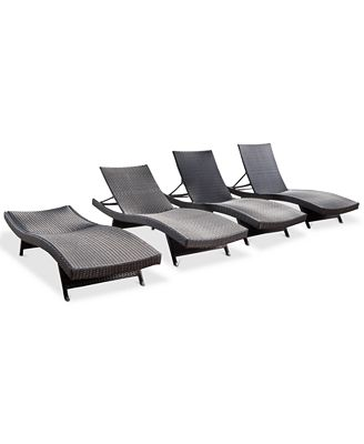 Carlsbad Outdoor Chaise Lounge (Set Of 4), Quick Ship
