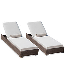 Avalon Outdoor Chaise Lounge (Set of 2), Quick Ship