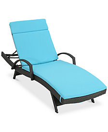 Maxwell Outdoor Chaise Lounge, Quick Ship