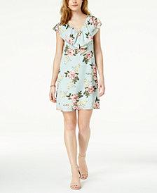 Maison Jules Printed Flounce Dress, Created for Macy's