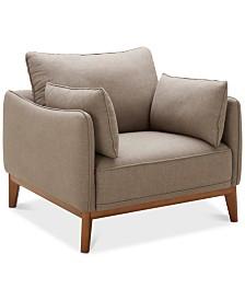"""Jollene 39"""" Fabric Armchair, Created for Macy's"""