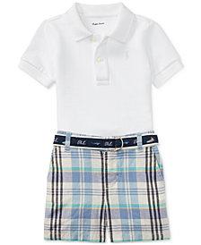 Polo Ralph Lauren Polo & Plaid Shorts Set, Baby Boys