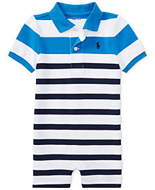Polo Ralph Lauren Striped Cotton Romper, Baby Boys