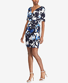 Lauren Ralph Lauren Printed Slim Fit Dress, Regular & Petite Sizes