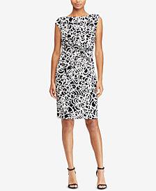 Lauren Ralph Lauren Printed Jersey Dress,Regular & Petite Sizes