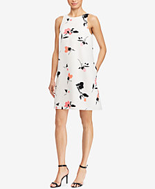 Lauren Ralph Lauren Crepe A-Line Dress, Regular & Petite Sizes