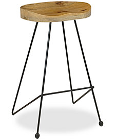 Burmen Bar Stool (Set Of 2), Quick Ship