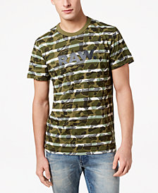 G-Star Men's Swando Camo-Stripe T-Shirt, Created for Macy's