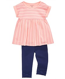 Striped Tunic & Leggings Separates, Baby Girls, Created for Macy's
