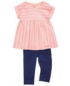 First Impressions Striped Tunic & Leggings Separates, Baby Girls, Created for Macy's