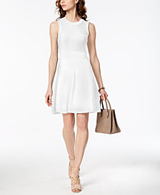 MICHAEL Michael Kors Ribbed Sweater Dress,a Macy's Exclusive Style