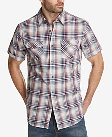 Weatherproof Vintage Men's Madras Plaid Pocket Shirt