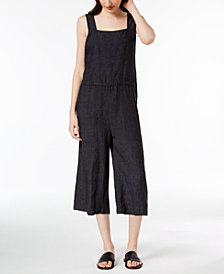 Eileen Fisher Organic Linen Cropped Jumpsuit, Regular & Petite