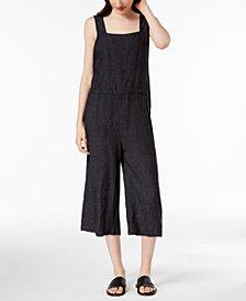 Eileen Fisher Organic Linen Cropped Jumpsuit, Regular & Petite