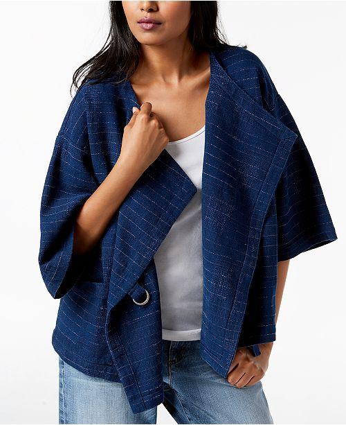 Eileen Fisher Draped 3/4-Sleeve Jacket