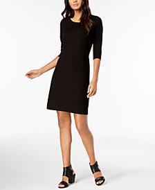 Eileen Fisher Stretch Jersey Tie-Back Dress, Regular & Petite