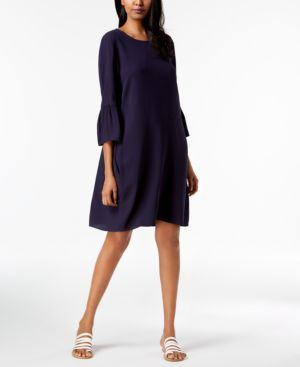 Eileen Fisher Silk 3/4-Sleeve Dress 5935293