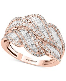Classique by EFFY® Diamond Baguette Swirl Ring (1-1/4 ct. t.w.) in 14k Rose Gold