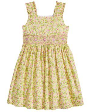 Bonnie Jean Smocked-Waist Floral-Print Dress, Little Girls 5897793