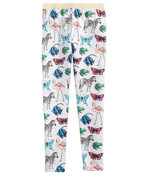 Epic Threads Butterfly-Print Leggings, Big Girls, Created for Macy's