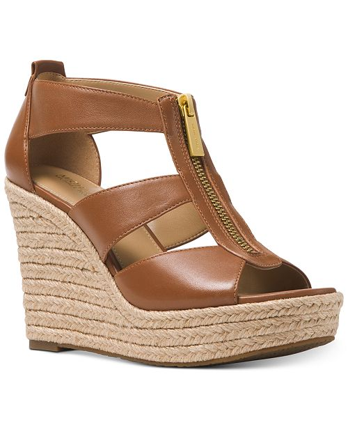 1937da666006 Michael Kors Damita Platform Wedge Sandals   Reviews - Sandals ...