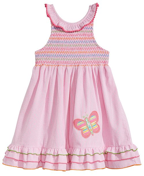 Good Lad Embroidered Smocked Dress, Little Girls