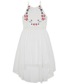 BCX Embroidered High-Low Hem Dress, Big Girls
